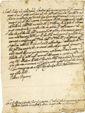 Autographs:Non-American, Pope Urban VIII Letter Signed as Pope....