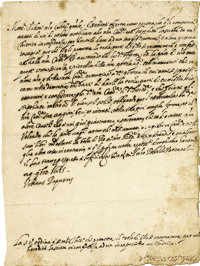 Pope Urban VIII Letter Signed as Pope