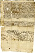 Autographs:Non-American, Pope Paul III Manuscript Document Signed as Pope....