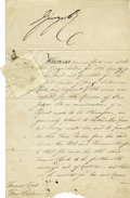 Autographs:Non-American, King George IV Manuscript Document Signed...
