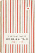 Books:First Editions, August Derleth. Arkham House: The First 20 Years 1939-1959.Sauk City: Arkham House, 1959.. ...