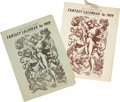 Books:First Editions, Gnome Press Fantasy Calendar for 1949....