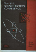 Books:Pamphlets & Tracts, 1950 New York Science Fiction Convention Program. Unpaginated, 4.75x 6.5 inches, July 1, 1950, staple bound in illustrated...