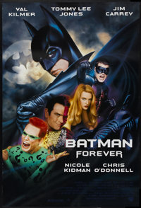 "Batman Forever (Warner Brothers, 1995). One Sheet (27"" X 40""). Action"