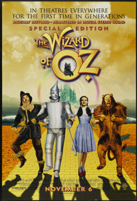 """The Wizard of Oz (Warner Brothers, R-1998). One Sheet (27"""" X 40"""") DS. Musical"""