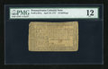 Colonial Notes:Pennsylvania, Pennsylvania April 10, 1777 16s PMG Fine 12....