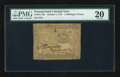 Colonial Notes:Pennsylvania, Pennsylvania October 1, 1773 2s/6d PMG Very Fine 20....