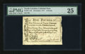 Colonial Notes:North Carolina, North Carolina December, 1771 £5 PMG Very Fine 25....