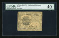 Colonial Notes:Continental Congress Issues, Continental Currency July 22, 1776 $7 PMG Extremely Fine 40....
