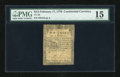 Colonial Notes:Continental Congress Issues, Continental Currency February 17, 1776 $2/3 PMG Choice Fine 15....