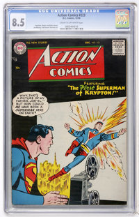 Action Comics #223 (DC, 1956) CGC VF+ 8.5 Cream to off-white pages