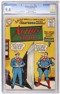 Silver Age (1956-1969):Superhero, Action Comics #222 (DC, 1956) CGC NM 9.4 Off-white to whitepages....