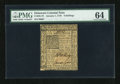 Colonial Notes:Delaware, Delaware January 1, 1776 6s PMG Choice Uncirculated 64....
