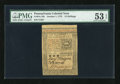 Colonial Notes:Pennsylvania, Pennsylvania October 1, 1773 15s PMG About Uncirculated 53 EPQ....