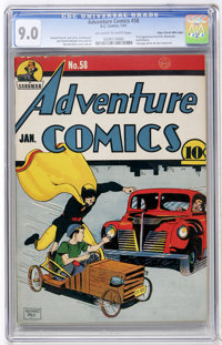 Adventure Comics #58 Mile High pedigree (DC, 1941) CGC VF/NM 9.0 Off-white to white pages