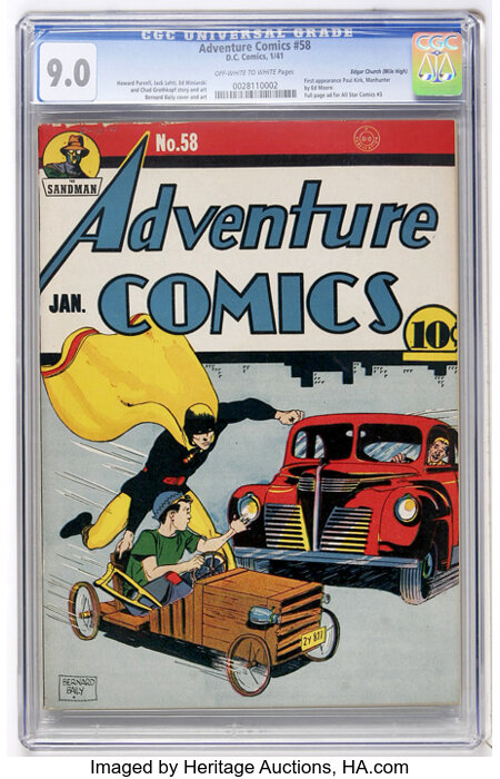 Adventure Comics #58 Mile High pedigree (DC, 1941) CGC VF/NM 9.0 Off-white to white pages....