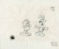 animation art:Production Cel, Garfield and Odie Animation Production Drawing Original Art, Groupof 2 (PAWS, 1995). ... (Total: 2 Items)