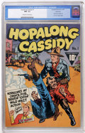 Golden Age (1938-1955):Western, Hopalong Cassidy #1 Vancouver pedigree (Fawcett, 1943) CGC NM- 9.2Off-white to white pages....