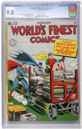 Golden Age (1938-1955):Superhero, World's Finest Comics #13 (DC, 1944) CGC VF/NM 9.0 Off-white pages....