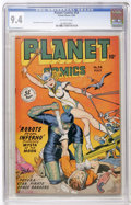 Golden Age (1938-1955):Science Fiction, Planet Comics #54 (Fiction House, 1948) CGC NM 9.4 Off-whitepages....