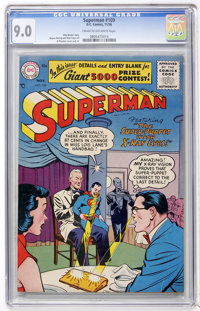 Superman #109 (DC, 1956) CGC VF/NM 9.0 Cream to off-white pages