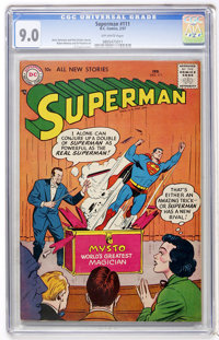 Superman #111 (DC, 1957) CGC VF/NM 9.0 Off-white pages