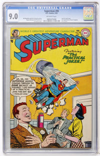 Superman #95 (DC, 1955) CGC VF/NM 9.0 Off-white pages