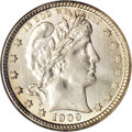Barber Quarters, 1909-O 25C MS65 NGC....