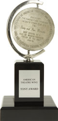 Movie/TV Memorabilia:Awards, Tony Award for Fiddler on the Roof Revival, 1991. A TonyAward presented to Barry and Fran Weissler for their produc...(Total: 1 Item)