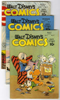 Golden Age (1938-1955):Cartoon Character, Walt Disney's Comics and Stories #80, 87 and 91 Group (Dell,1947-48).... (Total: 3 Comic Books)