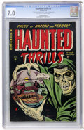 Golden Age (1938-1955):Horror, Haunted Thrills #2 (Farrell, 1952) CGC FN/VF 7.0 Off-white to whitepages....