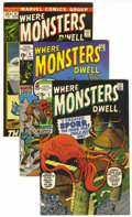 Bronze Age (1970-1979):Horror, Where Monsters Dwell Group (Marvel, 1970-72) Condition: AverageNM-.... (Total: 4 Comic Books)