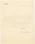 Autographs:Celebrities, Richard Strauss Typed Letter Signed. ...