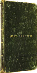 Books:Non-fiction, [Samuel Augustus Mitchell]. The Principal Stage, Steam-boat, andCanal Routes in the United States;...