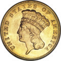 Three Dollar Gold Pieces, 1888 $3 MS66 PCGS. CAC....