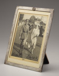Royal Memorabilia, Royal Presentation King George VI and Queen Elizabeth Silver-GiltPhotograph Frame. Marked Turner & Simpson Ltd.Birmingha...