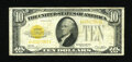 Small Size:Gold Certificates, Fr. 2400 $10 1928 Gold Certificate. Fine.. The overprint is bold for the grade on this $10 Gold....