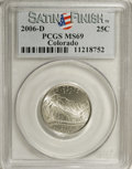 Statehood Quarters: , 2006-D 25C Colorado MS69 PCGS. (#39025)...