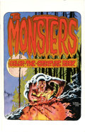 Books:Ephemera, Bernie Wrightson - The Monsters Color-the-Creature Book (Phil Seuling, 1974). ...