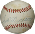 Autographs:Baseballs, Ted Williams and Pete Rose Dual-Signed Baseball. Two of the finesthitters to ever step in the batter's box each appear on ...