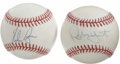 Autographs:Baseballs, Robin Yount and Nolan Ryan Single Signed Baseballs Lot of 2. TheHall of Fame pair of Nolan Ryan and Robin Yount each contr...