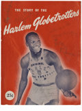 """Basketball Collectibles:Balls, 1947 """"Story of the Harlem Globetrotters"""" Team Signed Publication.EXMT periodical dating from circa 1947 recounts the amazi..."""