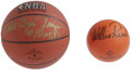 "Basketball Collectibles:Balls, Walt ""Clyde"" Frazier and Willis Reed Single Signed Basketballs Lotof 2. Here we honor a pair of New York Knick hardwood le... (Total:2 )"