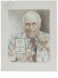 Basketball Collectibles:Others, Red Auerbach Signed Lithograph. Influential basketball legend RedAuerbach orchestrated the finest dynasty in the history o...
