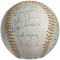 Autographs:Baseballs, 1976 Chicago Cubs Team Signed Baseball. Hall of Famer Bruce Sutterhighlights the collection of 26 signatures that appear o...