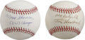 Autographs:Baseballs, Tom Henrich and Bill Skowron Single Signed Baseballs Lot of 2. Eachof the long-time New York Yankees seen here contributes...