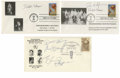 Basketball Collectibles:Others, Vintage Basketball Stars Signed First Day Covers Lot of 3. Postmarked from 1990 and 1991, each of the first day covers here...