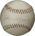 Autographs:Baseballs, Connie Mack Signed Baseball with Bing Miller. With an amazingcareer in baseball that spanned over six decades Connie Mack ...