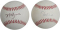 Autographs:Baseballs, Tom Glavine and Mark Grace Single Signed Baseballs Lot of 2. Eachof the clean ONL (White) baseballs that we offer here pr...