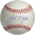 Autographs:Baseballs, Joe Morgan Single Signed Baseball. Hall of Fame cog in thewell-oiled Big Red Machine, Joe Morgan played the game with an i...